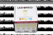 LED крушка 10W E27 3000K  - пакет 4 бр