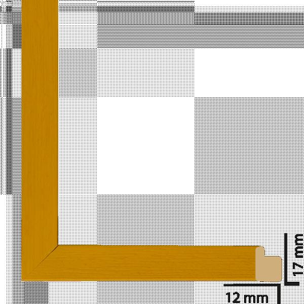 Рамка с паспарту дърво 30x40 см жълто