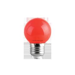 LED крушка G45 1W E27 червенa 60lm