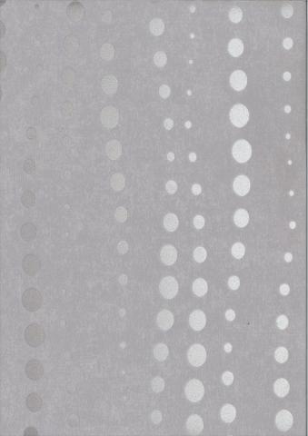 Флиз-винил сив с кръгчета