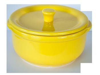 Керамично гювече 14 см/600 мл жълто