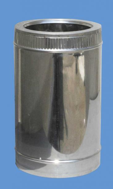 Двоен димоотвод Ф80-130 25 см