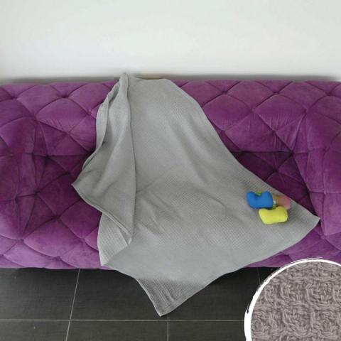 Одеяло ВАФЕЛ 150х200 - сиво