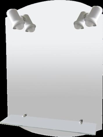 Огледало за баня с една лавица