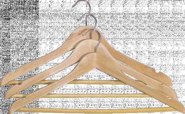 Дървена закачалка 3 бр