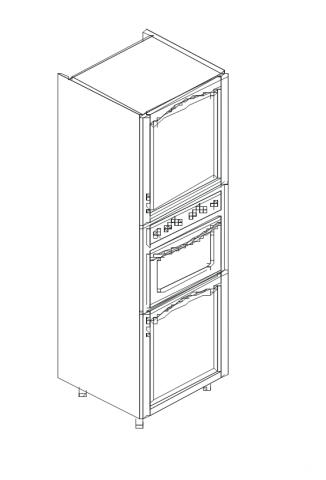 Талпи шкаф колона за вграждане на фурна 60х60х220