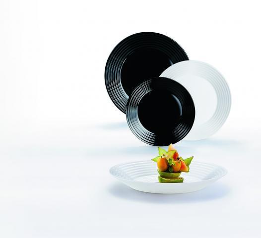 Сервиз за хранене 18 елемента Harena черно-бял