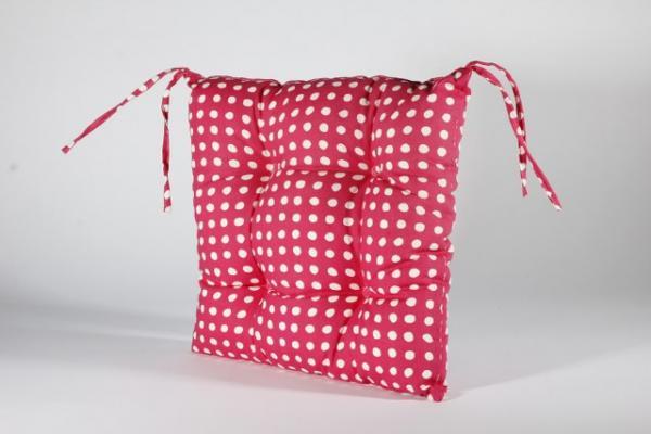 Столовка с връзки Пунто Бианко, 40х40 см, розово