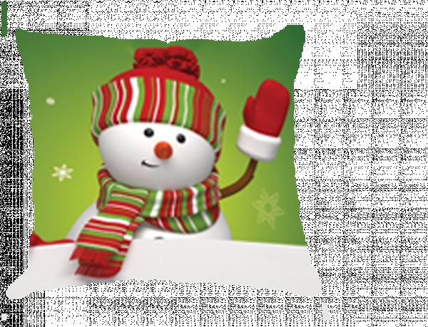 Коледна възглавница 35/35 см Снежен човек