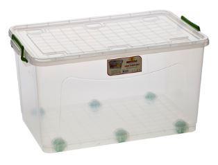 Кутия прозрачна  с колела 50 л
