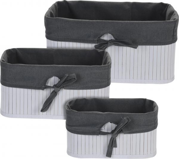 Сет бамбукови кошници 3 бр. черно