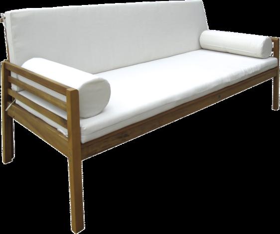 Дървена кушетка с възглавници