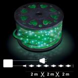 Светещ прозрачен маркуч 50м, 24/м зелени LED OUT