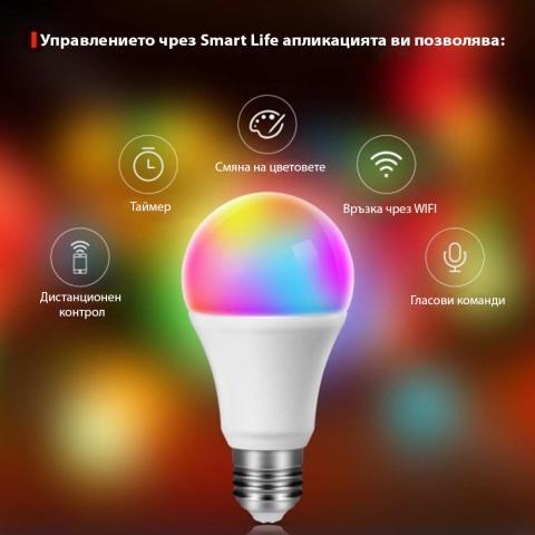 Smart RGB LED рушка 10W с WIFI