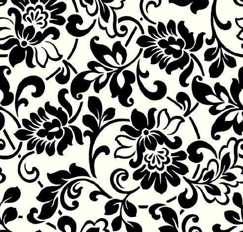 Фолио Цветя черно-бели