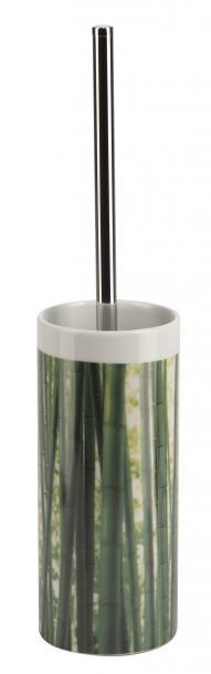 WC четка Bambus бяла/зелена