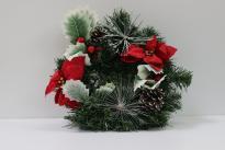 Коледен венец голям Гъбка ф30 см