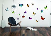 Стикер за стена Пеперуди 50x70 см