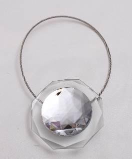 Магнит за перде кристал бял