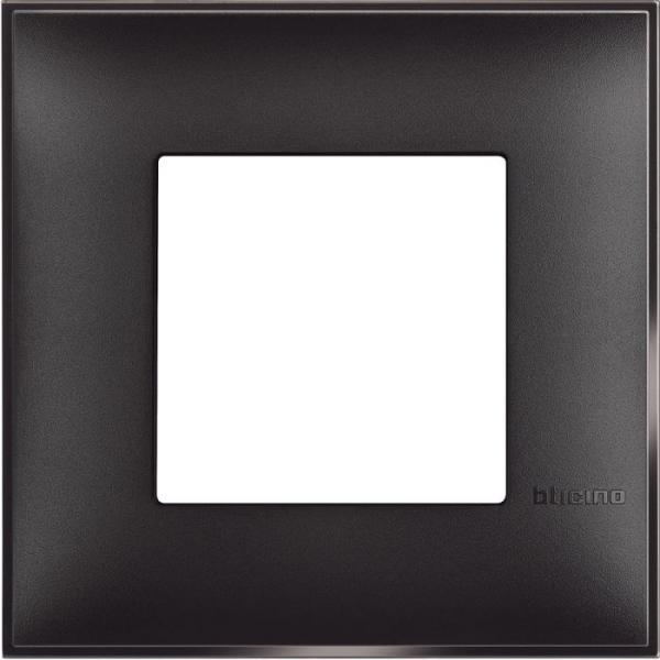 Рамка единична черен сатен Bticino