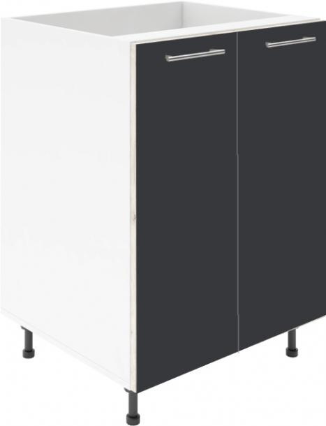 Крафт D6 долен шкаф с две врати (за мивка) 90см, антрацит