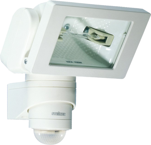 Прожектор халогенен със сензор бял HS 150,150W, 240° - 12м, IP44,