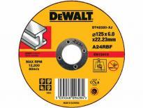 Абразивен диск за шлайфане метал DeWalt 125мм