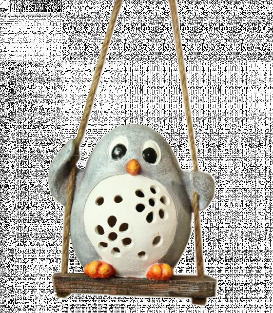 Соларна лампа Пингвинче на люлка