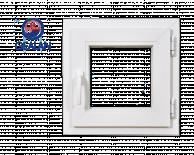 PVC Прозорец баня Gealan  S3000 500/500мм