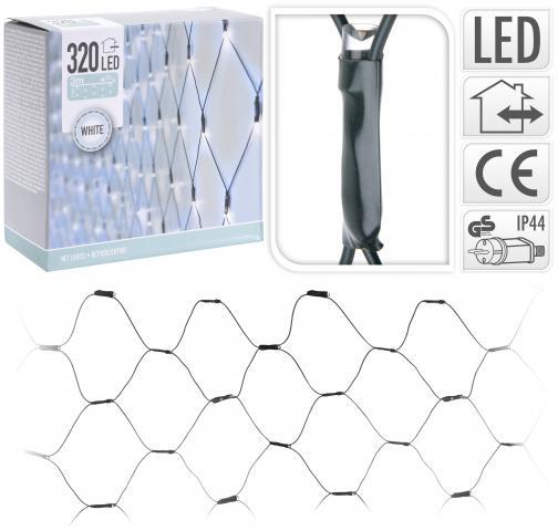 Светеща външна мрежа 320 LED бяла светлина