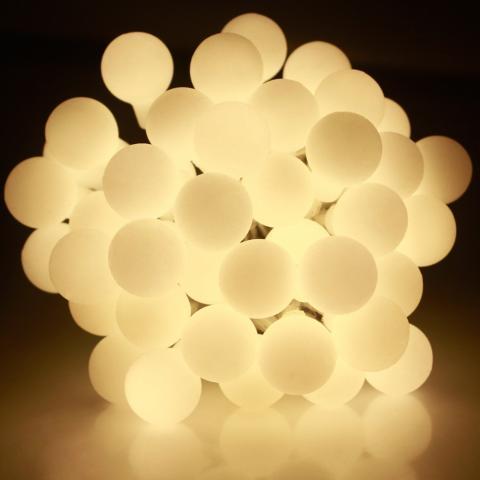 Светещ гирлянд   IN 5m,50 LED топло бели