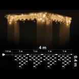 Светеща завеса RICE 4x4м, 120 топло бели лампички OUT
