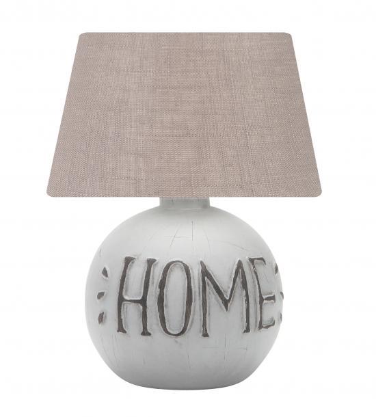 Настолна лампа Хоум E14, керамика,цвят-беж
