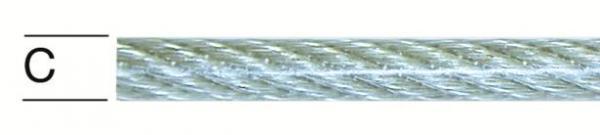 Въже поцинковано PVC 3/4мм