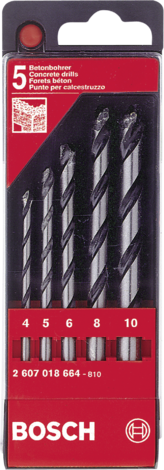 Комплект свредла за бетон Bosch 5бр.