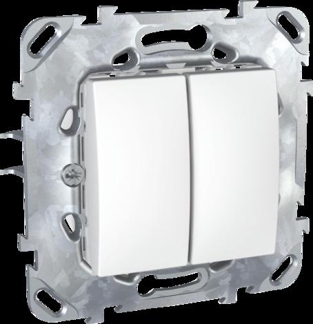 Unica B Ключ двоен бял механизъм