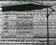 Градински чадър камбана зелен, ф290см
