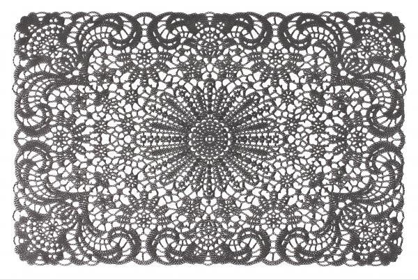 Подложка за хранене Lace 45x30 см сив