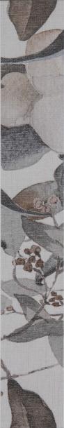 Фриз Силк цветя Светло сива 6х40