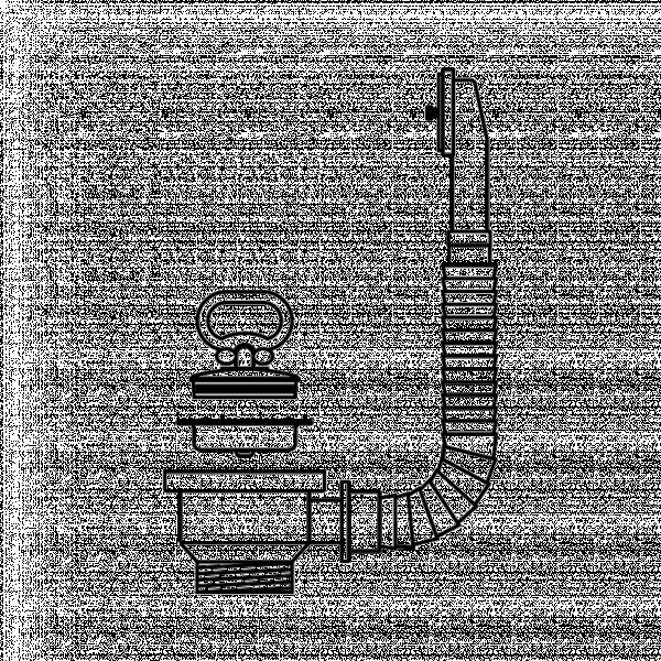 Валвида Ф60, единична тапа с преливник