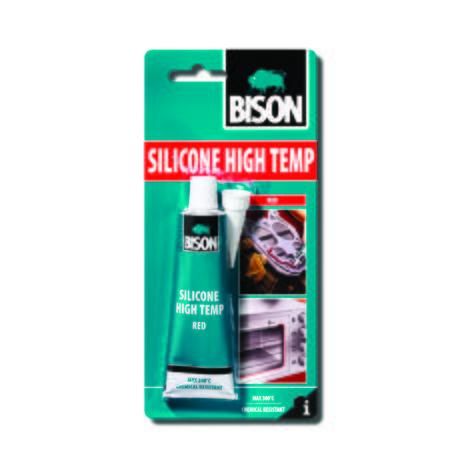 Топлоустойчив силикон Bison червен 60мл