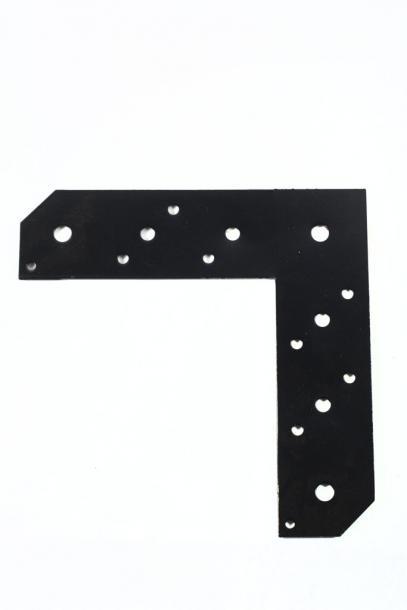 Планка L-образна 2ч.черна 210х210х56х2.5