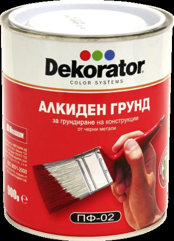 Алкиден грунд ДЕКОРАТОР ПФ02 0.9 кг