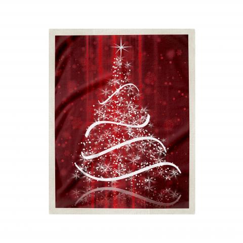 Одеяло Коледна шерпа дизайн 1