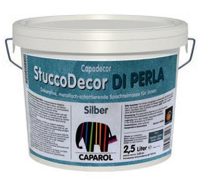 Декоративна шпакловка Stucco DI PERLA 2.5л, сребро