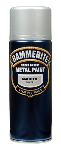 Спрей Hammerite 0.4л, сребро гланц