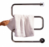Електр. сушилник за кърпи DEVIrail, хром