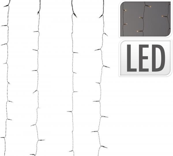 Светлинна завеса 220 LED 200X100 см топла светлина