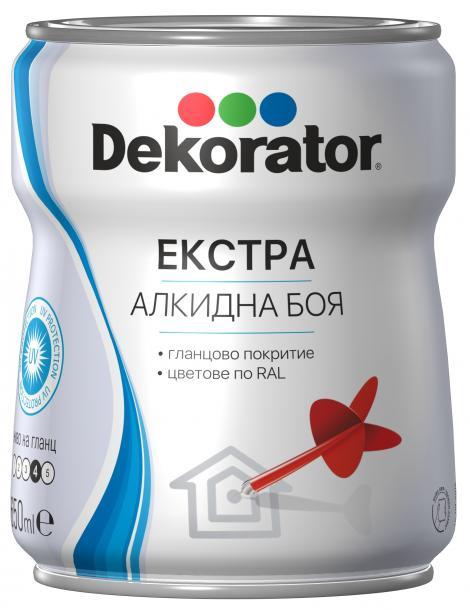 Екстра алкидна боя Decorator 0.65л, RAL 1015