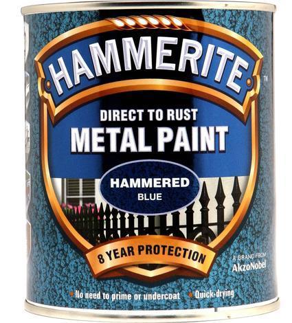 Боя за метал Hammerite 0.75л, син хамър ефект